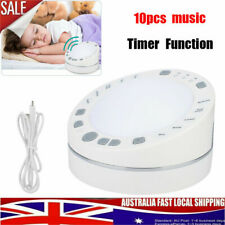 White Noise Deep Sleep Baby Sound Machine Solution Timer Function 10 Music NEW