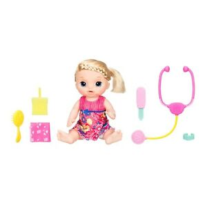 Baby Alive Sweet Tears Blond Baby Doll with doctor accessories