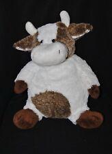 Peluche doudou vache  RODADOU RODA brun marron blanc 32 cm assis NEUF
