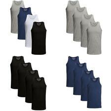 JACK & JONES Herren Tank Top 4er Pack Basic T-Shirt O-Neck Shirt