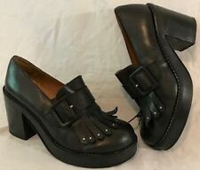 Asos Black Ankle Leather Boots Size 6 (162vv)