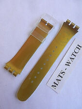 SWATCH+BAND+NEW GENT+ASUOZ161SC EST. 1983 GOLD & PIONEER-EVENT 2013+NEU/NEW