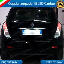 COPPIA LUCI TARGA 18 LED LANCIA YPSILON 843 CANBUS 6000K 100% NO ERRORE