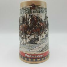 1988 Anheuser Busch Collector's Series Budweiser Beer Stein With Clydesdales