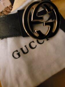 gg gucci belt Black monogrammed