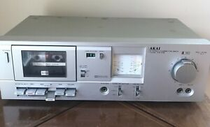 Vintage Akai CS-M3 Stereo Cassette Tape Player Deck Dolby Silver. Made in Japan