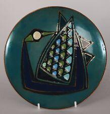 Patricia Fisher Enamel Plate Goose Bird 1958 Mid Century Modern Eames Era