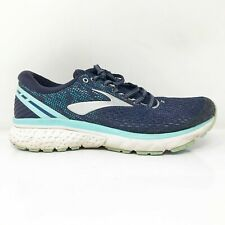 Brooks Womens Ghost 11 1202771D493 Blue Running Shoes Lace Up Low Top Size 8 D