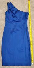 Calvin Klein Women Blue Cocktail One Shoulder Dress Size 4