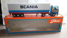 Tekno Scania 142H  Sattelzug Auflieger LKW Metall  1:50  Org. in OVP DEMO PROMO