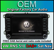 VW Sat Nav stereo RNS 510 DAB, VW Scirocco DAB+ radio CD player, Navigation LED