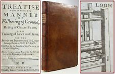 1724*FALLOWING TREATISE/AGRICULTURE/HEMP/SCOTTISH LINEN/LOOMS/FARMING/JACOBITE