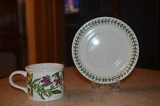 "Portmeirion Botanic Garden ""Heartsease"" Cup and Saucer Crest ID Trophy Stamp"