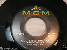 Connie Francis God bless america & Among my souvenirs 45 record K12841