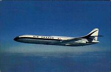 Flugzeug Airplane CARAVELLE Air France im Flug Avion Verkehrsflugzeug AK ~1970