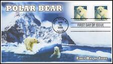 Ao-4387, 2009,Polar Bear, Add-on Cachet, Fdc, Booklet, Sc 4387