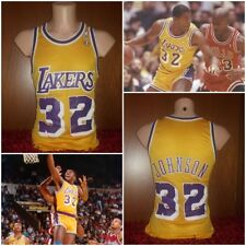 MAGLIA BASKET MAGIC JOHNSON LAKERS 32 PALLACANESTRO VINTAGE CHAMPION 90'S