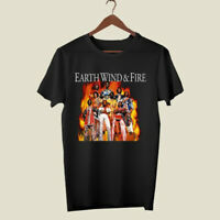 Earth Wind and Fire Retro Funk Band Men's Black T-Shirt Size S-3XL