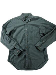 Lauren Ralph Lauren Men's Size 15 1/2 34-35 Button Down Dress Shirt Green