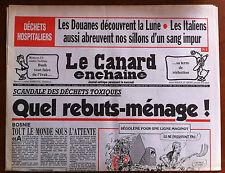 Le Canard Enchaîné 19/8/1992; Déchets Hospitaliers, les douanes découvrent la
