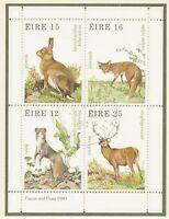 IRLAND 1980, Jagdbare Wildtiere Block FDI