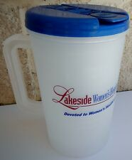 Plastic Insulated Lakeside Clear Thermo 30oz Mug & Blue Lid with Straw