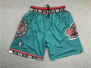 Vancouver Grizzlies Retro Green Pocket Edition Basketball Shorts Size: S-XXL