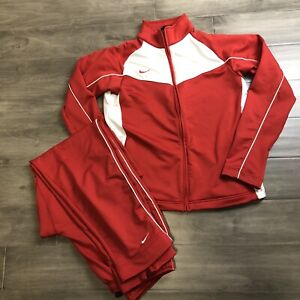 VINTAGE Nike Track Suit Red Women's Size Large (12-14)