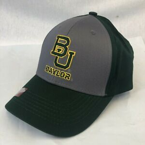 BAYLOR BEARS ADULT EMBROIDERED GREEN GREY HAT CAP BY CAPTIVATING OSFM FREE SHIP