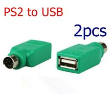 2X PS/2 male to USB Female Port Adapter Converter for PC Computer Keyboard Mouse