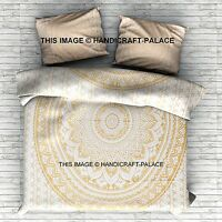 SIZE VARIOUS - Indian Ombre Mandala Duvet Doona Cover Reversible Bed Blanket Set