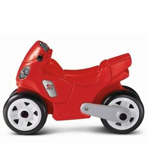 Step2 Motorcycle Ride-On for Kids Red Toy Riding Indoor Outdoor Toddlers New