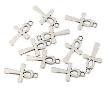 ankh egyptian cross Tibetan Silver Bead charms Pendants fit bracelet 10pcs