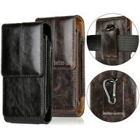 Vertical Leather Case Cover Pouch Holster With Belt Clip For Large Cell Phones