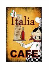 Italien Café signe style vintage enseigne de Boutique thé piéce CUISINE