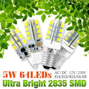 LED Corn Bulbs G4/G9/E12/E14/B15 Cool Warm White 3-9W 12/220V Lamp 1/4/8X Pack