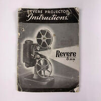 Vintage Revere Projector Instructions Manual 8 MM