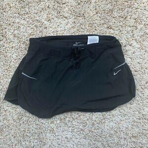 Nike Skort Womens XS Black Dri-fit Skirt Shorts Golf Tennis