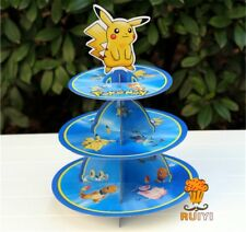 1x Pokemon Pikachu 3-Tier Cupcake Stand. Party Cake Lolly Loot Bag