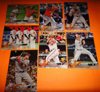 BALTIMORE ORIOLES COMPLETE TEAM SETS,  2017 & 2018 TOPPS SERIES 1, 2 AND UPDATE