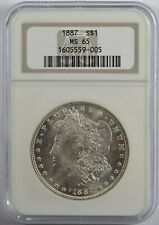 1887 P Morgan Silver Dollar NGC MS65