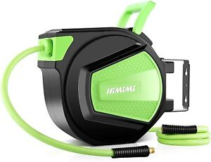 """71FT Automatic Retractable Garden Hose Reel 1/2""""x 65+6FT Heavy Duty New Upgraded"""