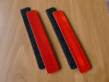 3M Red reflective patch for tactical gear Molle loops. 1 x 6 inches. 2 pcs.