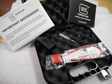 NEW Glock Factory Clam Shell Hard Pistol Case with manual, lock, loader, brush