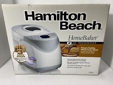 NEW HAMILTON BEACH BREAD MAKER HOMEBAKER 2LB AUTO #29881