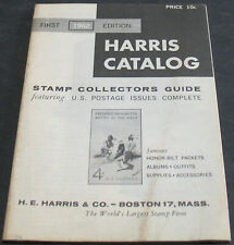 Harris Catalog 1962 First Edition Stamp Collectors Guide Scarce Reference
