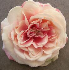 "Large 5 1/2"" Light  Pink, Cream Rose Flower Hair Clip,Bridal,Dance,Prom,Wedding"