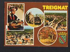 TREIGNAT (03) JOUEUSE de VIELLE , CHATEAU DE VILLEBOUCHE , GARE en vue aérienne