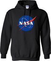 NASA Hoodie Space Astronaut Geek Nerd Star Big Bang Theory Mens Christmas Top