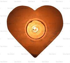 1 X HEART SHAPE HIMALAYAN ROCK SALT CRYSTAL CANDLE TEA LIGHT HOLDER 1- 1.5 KG